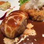 キッチン ハセガワ - デミグラスソースチーズハンバーグ