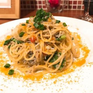 ビストロ 集 - しらすとカラスミのスパゲッティーニ