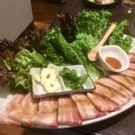 食道園 - サムギョプサル〜♪( ´▽`)