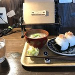 自家焙煎コーヒーcafe・すいらて - 平日限定のおにぎりモーニング(2018.3.22)