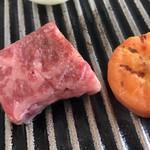 彩岳館 - 豊後牛を鉄板焼き