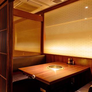 《個室完備》隠れ家風の和空間。普段のお食事からご宴会まで対応