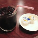 健康中華庵 青蓮 - ランチサービスのアイスコーヒー
