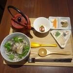 東京 星夜 - 佐賀県産鯛とミツバのダシ茶漬け1,000円