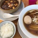 ゆうき屋 - 料理写真:麻婆豆腐定食(味玉トッピング)