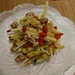 Chuugokuyakuzenryourishinfuu - 季節の果物とくらげと胡桃の胡麻ソース和え