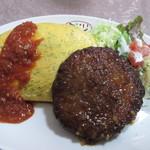 ミドリ食堂 - ハンバーグオムライス