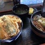 そば順 - 料理写真:タコ天丼とかけ蕎麦のセット