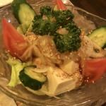 桑 - 豆腐サラダ ¥550