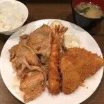 キッチン大正軒 - ミックスB定食 1050円。