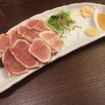 82874234 - 椿-TSUBAKI-コース 朝挽き地鶏のたたき
