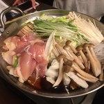 82874236 - 椿-TSUBAKI-コース 名古屋コーチンのすき焼き鍋