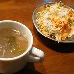 インドネパール料理 ナンカレーハウス - スペシャルセットのサラダ スープはおまけ