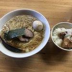 支那そば なかじま - 支那そば ¥720 味付玉子 ¥100 麺大盛 ¥100 豚角煮ごはん ¥180