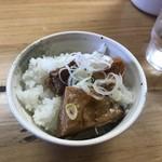 支那そば なかじま - 豚角煮ごはん ¥180