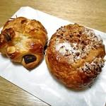 ブーランジェルクール - チョコクロワッサン(左)& あんクロワッサン