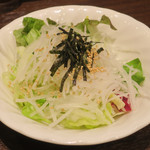 いきなりステーキ - 大根とレタスの和風サラダ(レギュラー)250円