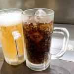 82888688 - 生ビールとコーラ