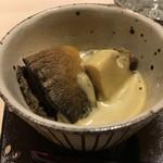 すし宮川  - 松前の鮑の肝ソース
