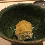 すし宮川  - むき出した毛蟹 土佐酢のジュレ