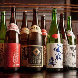 飲み放題には日本酒が10種含まれています。