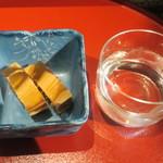 乃池 - お通しと日本酒