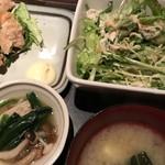 暖歓 - 味噌汁・小鉢・サラダ