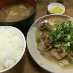 味のお福 - どて焼き定食 2016.07.18