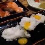 魚心 - 1803_魚心 梅田店_月見とろろ@80円×2貫