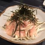 和鶏屋 - H.29.12.8.夜 蒸し鶏と梅とろろの三杯酢和え 380円