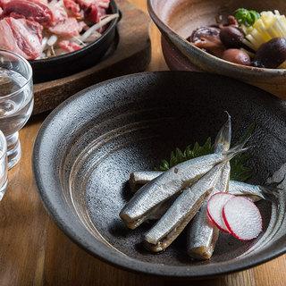 岡山名産ままかりや旬の筍料理もご用意。