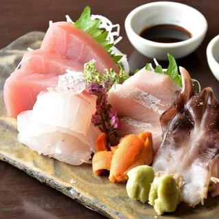 天然鮮魚を熟成させ旨味が凝縮したお刺身♪
