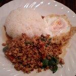829380 - ランチBセット 鶏肉バジル炒め