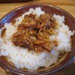 麺や 宝龍 - ひとくちピリ辛ネギ味噌チャーシューご飯