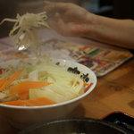 竹本商店☆つけ麺開拓舎 - トッピング 野菜