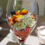 レストラン ピウ - 抹茶風味のマスカルポーネムース