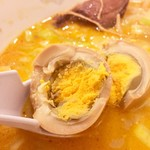 華龍飯店 神保町 - ゆで玉子スープと一緒にいただきます