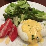 キュル・ド・サック - 前菜:ゆで卵と自家製マヨネーズのサラダ
