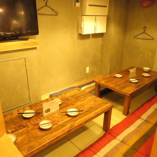 ゆったりとした座敷とテーブル席は大小どんな宴会もOK!貸切◎