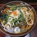 そば処 はるな - 山菜そば(¥400)
