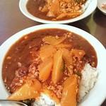 中華料理 龍鳳酒家 - 大根と麻婆カレー(普通サイズ)