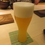 鮨 銀座 おのでら - 生ビール 1000円+Tax