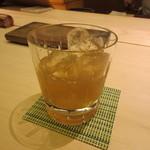 鮨 銀座 おのでら - 梅酒ロック(うぐいす鶯とろ梅酒)800円+Tax