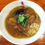 麺や 亀陣 - 背脂煮干し醤油Ver.1_800円