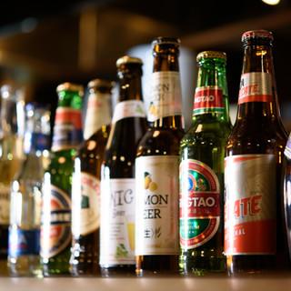 世界各国のビールを楽しむ◎店主の想いが込もったラインナップ!