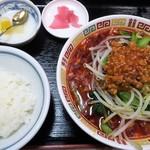 正康楼 - 四川担々麺定食(激辛め)