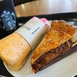 スターバックス・コーヒー - ミートパイとサラダラップ サーモン&クリームチーズ
