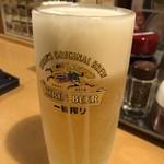 麺や 福十八 - 中生ビール 280円