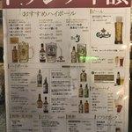 Sakatorina - メニュー(ドリンク)