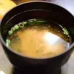 なんちち食堂 - 【ラフテー定食@税込900円】味噌汁